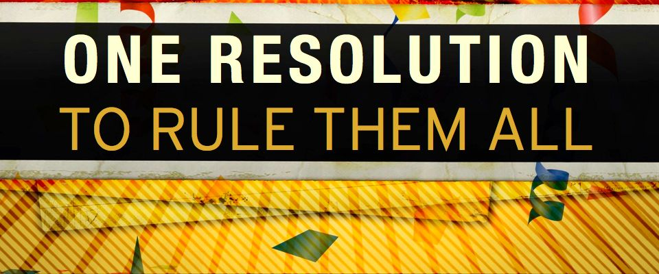 One Resolution to Rule them All